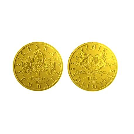 Zlatá mince Vznik Československa 100 let Proof