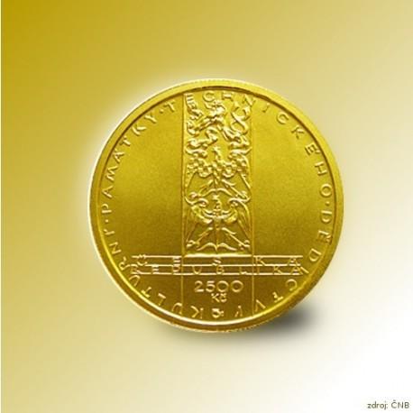 Zlatá mince 2500 Kč Větrný mlýn v Ruprechtově 2009 Standard_