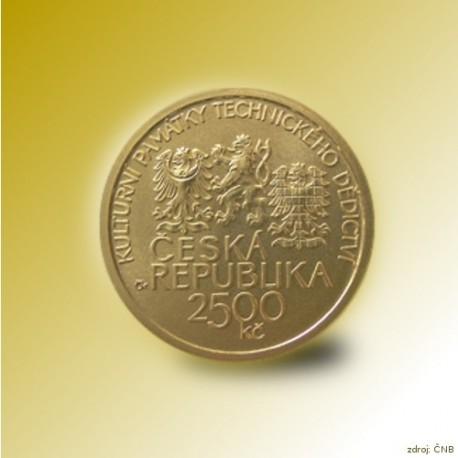 Zlatá mince 2500 Kč Hamr v Dobřívě 2010 Standard_