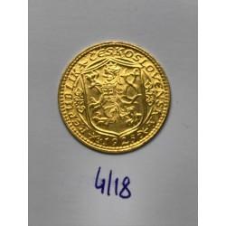 Zlatá mince Svatý Václav Jednodukát Československý 1925