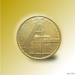 Zlatá mince 2500 Kč Důl Michal v Ostravě 2010 Standard_