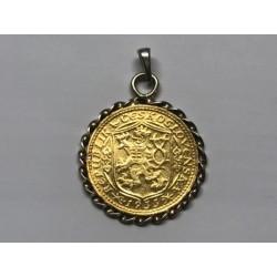 Zlatá mince Svatý Václav Jednodukát Československý 1933 v rámečku