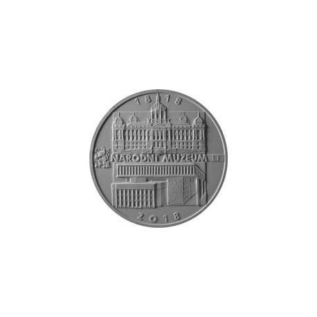 Stříbrná proof mince Založení Národního muzea 200 Kč