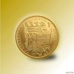 Zlatá mince 2000 Kč Zámek v Litomyšli Renesance 2002 Standard_