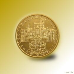 Zlatá mince 2000 Kč Zámek Hluboká Novogotika 2004 Standard