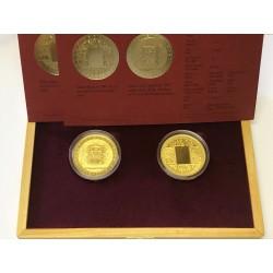Zlatá mince Vznik Měny standard+Vznik Měny proof+bankovka Rašín, etuje !!!