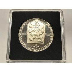 100 Kčs, nevydaná stříbrná mince 1 Máj 100 let výročí 1890-1990
