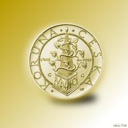 Zlatá mince 2500 Kč Tolar moravských stavů 1995 - 1996 Standard