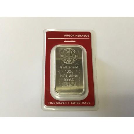 Investiční stříbro-stříbrný slitek 100 gr