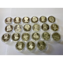 Investiční stříbro-stříbrné medaile