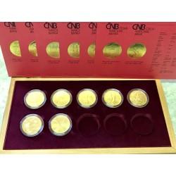 Hrady ČR, sada 7 doposud vydaných zlatých mincí standard