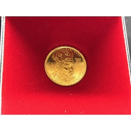 Zlatá mince - Dukát Karel IV 1979 ražební lesk