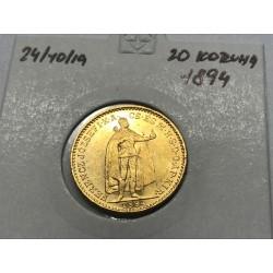 20 koruna 1894 - KB