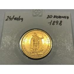 20 koruna 1898 - KB