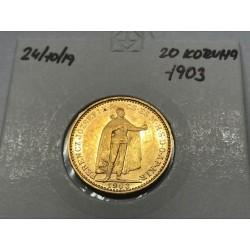 20 koruna 1903 - KB