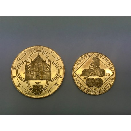 Sada zlatých kutnohorských dukátů 1972 Kolářský ARTIA