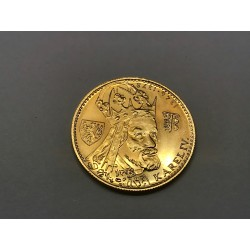 Zlatá mince - Dukát Karel IV 1980 ražební lesk, etuje